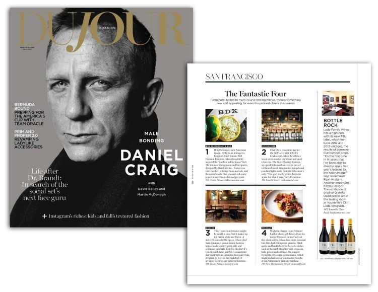 FEL Wines featured in DuJour