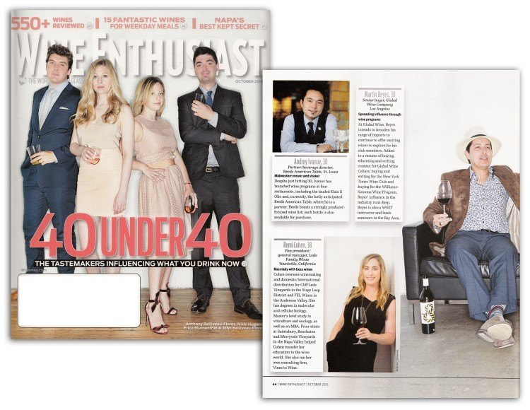 Remi Cohen included in Wine Enthusiast 40 Under 40