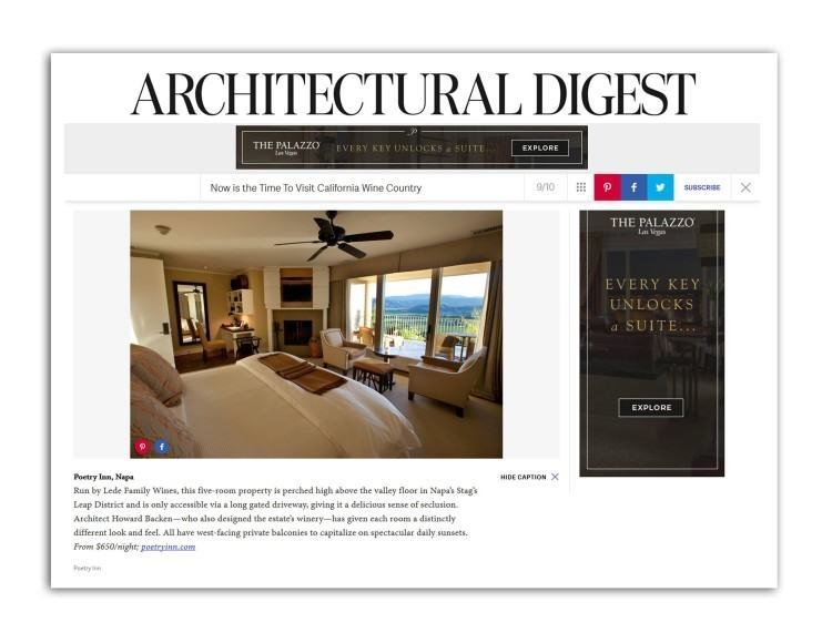 Poetry Inn featured on Architectural Digest