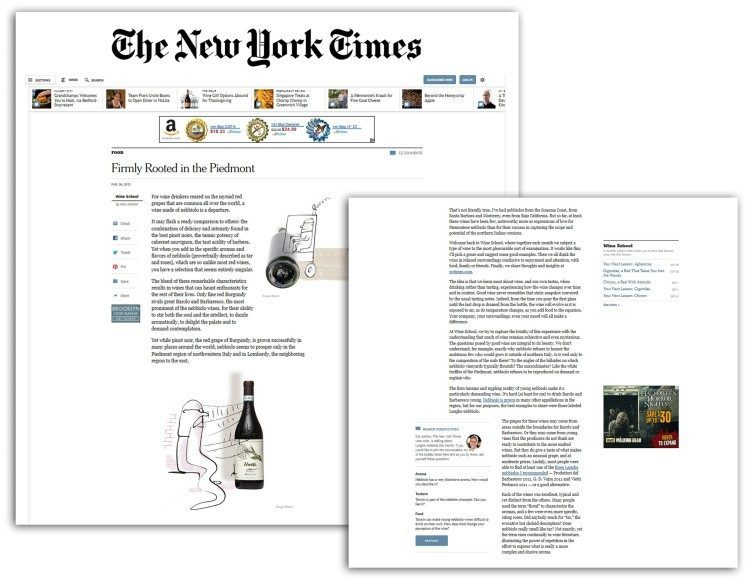 Vietti featured in The New York Times