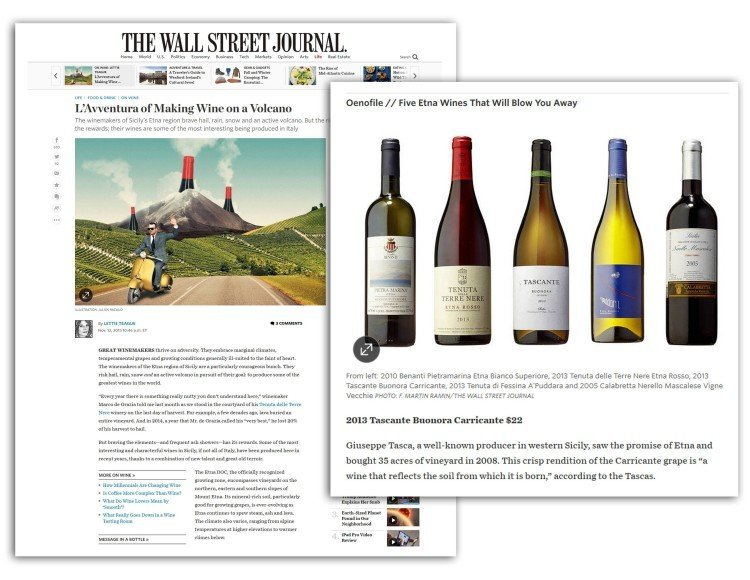 Tascante featured in the Wall Street Journal